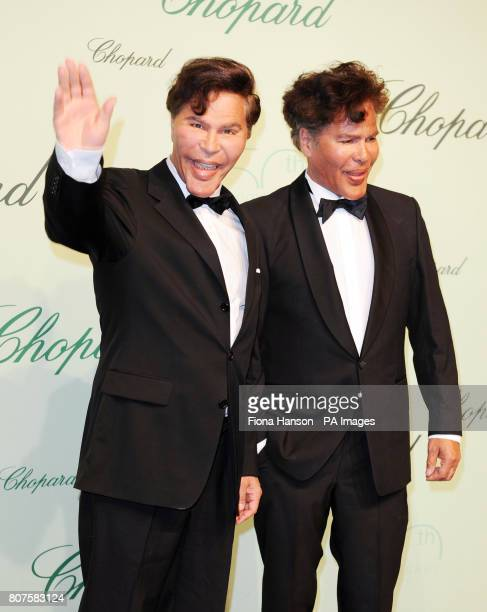 Igor and Grichka Bogdanoff former French television star brothers attend the Chopard 150th birthday party event during the 63rd Cannes Film Festival...