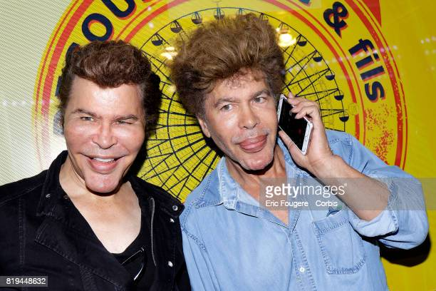 Igor and Grichka Bogdanoff poses during a portrait session in Paris France on