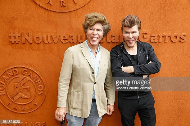 Igor and Grichka Bogdanov attend The French Tennis Open Day Seven at Roland Garros on May 28 2016 in Paris France