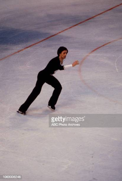Igor Bobrin competing in the Men's figure skating event at the 1980 Winter Olympics / XIII Olympic Winter Games Olympic Center