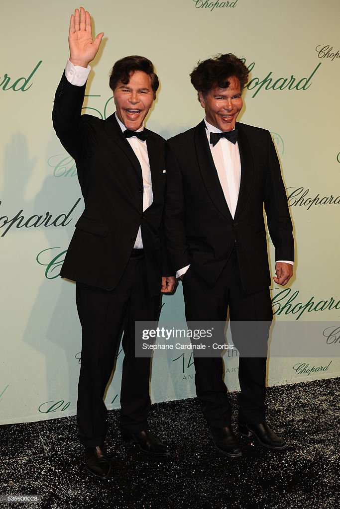 Igor Bogdanoff and Grichka Bogdanoff at the 'Chopard 150th Anniversary Party' during the 63rd Cannes International Film Festival.
