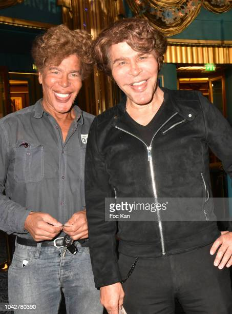 Igor Bogdanoff and Grichka Bogdanoff attend Jean Paul Gaultier Fashion Freak Show Premiere at Follies Bergeres on September 28 2018 in Paris France