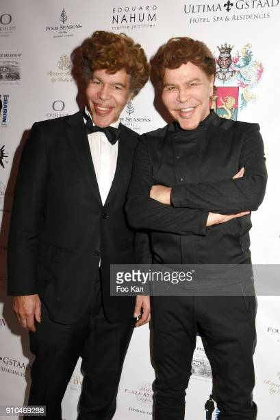 Igor Bogdanoff and Grichka Bogdanoff attend the 41st The Best Award Ceremony in Paris Paris Fashion Week Haute Couture Spring Summer 2018 at Hotel...