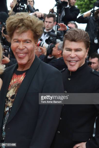 Igor Bogdanoff and Grichka Bogdanoff attend the screening of Solo A Star Wars Story during the 71st annual Cannes Film Festival at Palais des...