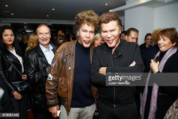 Igor Bogdanov and his brother Grichka Bogdanov attend Les Fantomes De La Rue at Theatre La Bruyere on November 23 2017 in Paris France