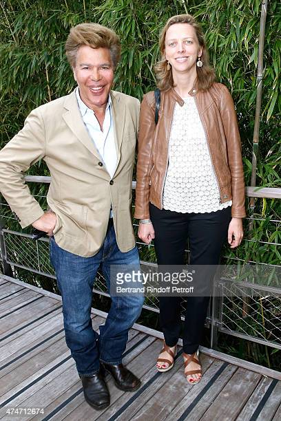 Igor Bogdanov and his wife Amelie de Bourbon Parme attend the 2015 Roland Garros French Tennis Open Day 2 on May 25 2015 in Paris France