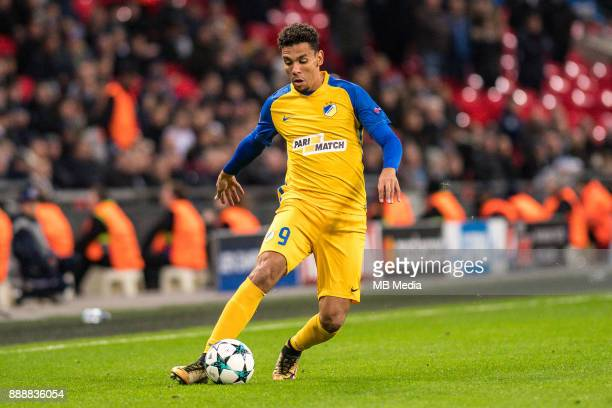 Igor De Camargo of APOEL Nicosia during the UEFA Champions League group H match between Tottenham Hotspur and APOEL Nicosia at Wembley Stadium on...