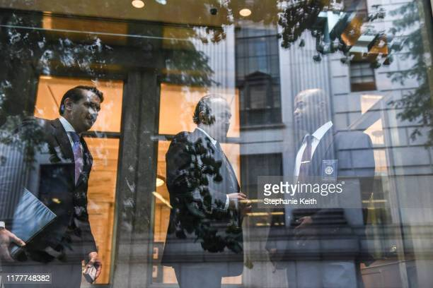 Igor Fruman arrives at federal court for an arraignment hearing on October 23 2019 in New York City Lev Parnas and Igor Fruman along with Andrey...