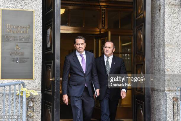 Igor Fruman exits federal court for an arraignment hearing on October 23 2019 in New York City Lev Parnas and Igor Fruman along with Andrey Kukushkin...