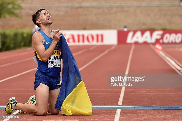 Igor Glavan wins third place of the 50KM Race Walk at IAAF Race Walking Team Campionship Rome 2016 on May 7 2016 in Rome Italy