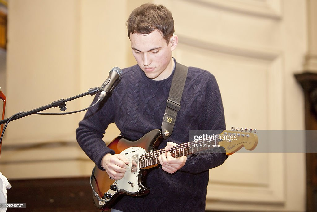 Igor Haefeli of Daughter performs on stage in concert at Holy Trinity Church on January 15, 2013 in Leeds, England.