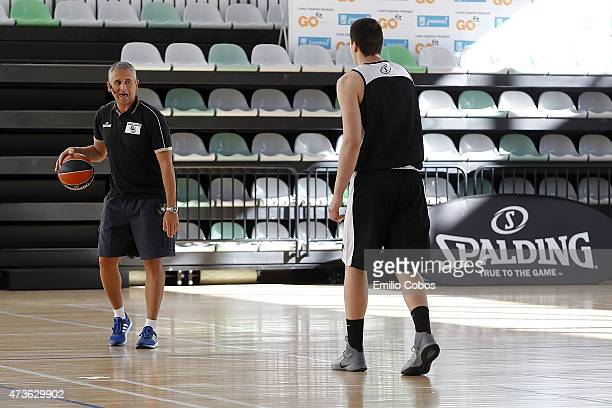 """Igor Kokoskov during the International Coaches Clinic """"Jose Luis Abos"""" of Turkish Airlines Euroleague Final Four Madrid 2015 at GO fit Vallehermoso..."""
