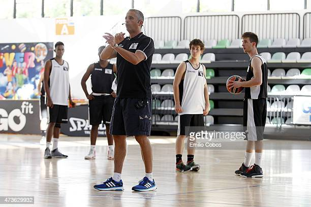 Igor Kokoskov during the International Coaches Clinic Jose Luis Abos of Turkish Airlines Euroleague Final Four Madrid 2015 at GO fit Vallehermoso on...