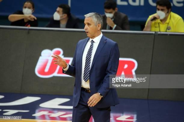 Igor Kokoskov, Head Coach of Fenerbahce Beko Istanbul during the 2020/2021 Turkish Airlines EuroLeague match between Fenerbahce Beko Istanbul and FC...