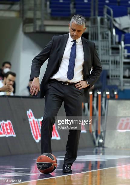 Igor Kokoskov, Head Coach of Fenerbahce Beko Istanbul in action during the 2020/2021 Turkish Airlines EuroLeague Regular Season Round 25 match...