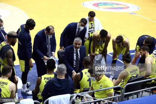 Igor Kokoskov, Head Coach of Fenerbahce Beko Istanbul in action during the 2020/2021 Turkish Airlines EuroLeague Regular Season Round 33 match...