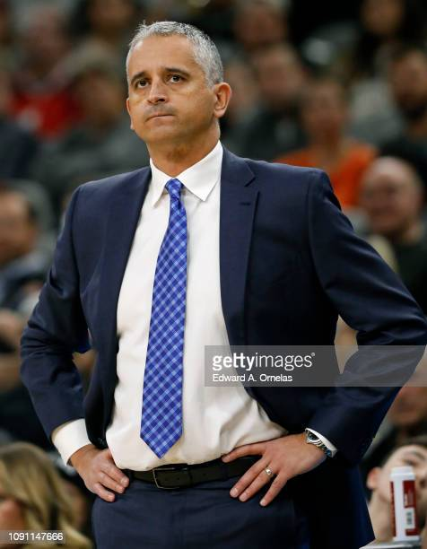 Igor Kokoskov head coach of the Phoenix Suns watches action during an NBA game against the San Antonio Spurs held January 29, 2019 at the AT&T Center...