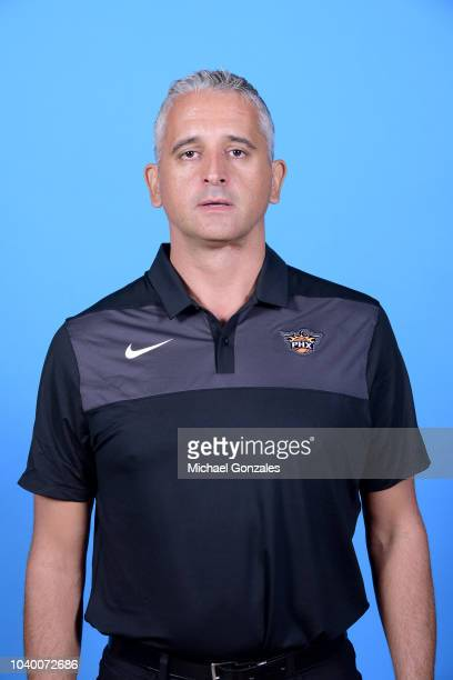 Igor Kokoskov of the Phoenix Suns poses for a head shot on Media Day on September 24 at Talking Stick Resort Arena in Phoenix, Arizona. NOTE TO USER:...