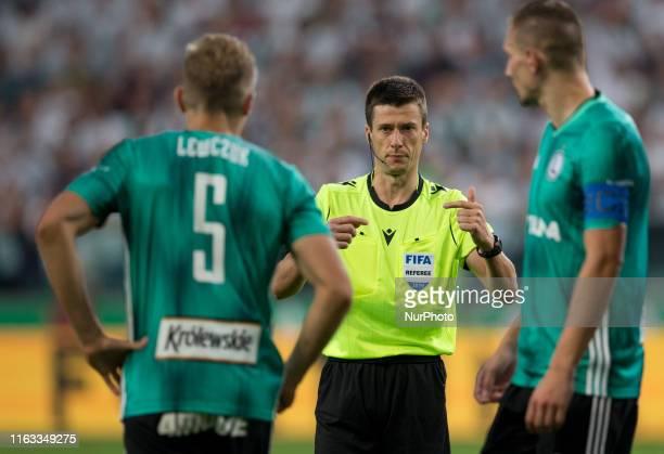 Igor Lewczuk Jean Bastien BenoitArtur Jedrzejczyk during the UEFA Europa League Play Off First Leg match between Legia Warsaw and Rangers FC on...