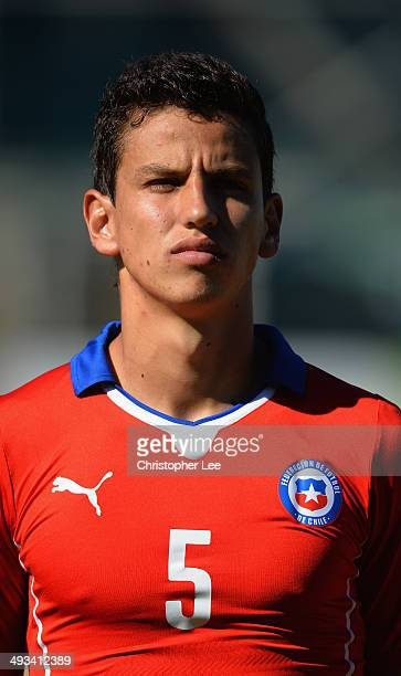 Igor Lichnovsky of Chile during the Toulon Tournament Group A match between Portugal and Chile at the Stade Perruc on May 23 2014 in Hyeres France