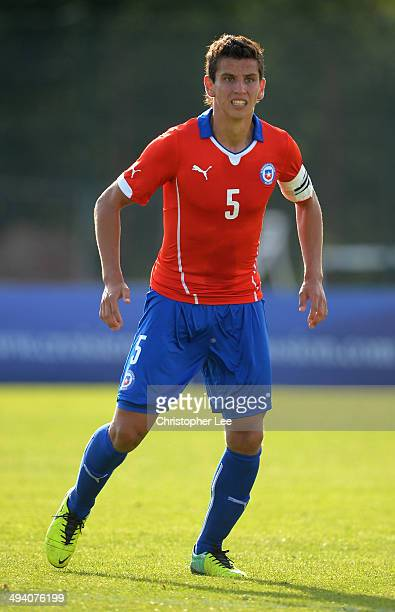 Igor Lichnovsky of Chile during the Toulon Tournament Group A match between Chile and Mexico at the Stade De Lattre on May 27 2014 in Aubagne France