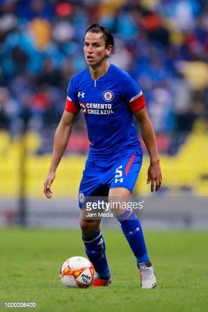 Igor lichnovsky of Cruz Azul drives the ball during a match between Cruz Azul and Zacatepec as part of Copa MX Apertura 2018 at Azteca Stadium on...