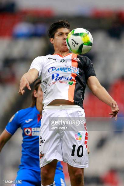 Igor lichnovsky of Cruz Azul fights for the ball with Alfonso Sanchez of Alebrijes during a match between Cruz Azul and Alebrijes as part of the Copa...