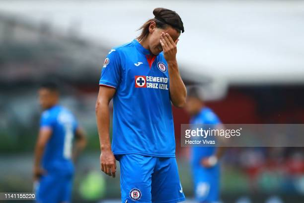 Igor Lichnovsky of Cruz Azul reacts during the 17th round match between Cruz Azul and Morelia as part of the Torneo Clausura 2019 Liga MX at Azteca...