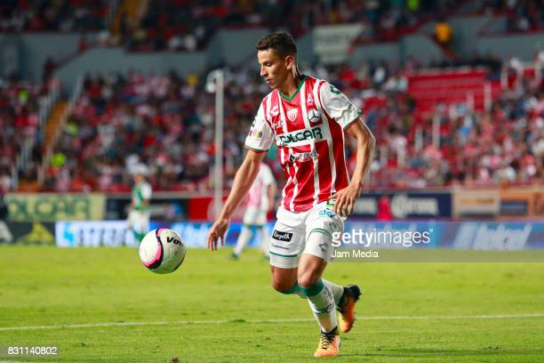 Igor Lichnovsky of Necaxa controls the ball during the 4th round match between Necaxa and Leon as part of the Torneo Apertura 2017 Liga MX at...