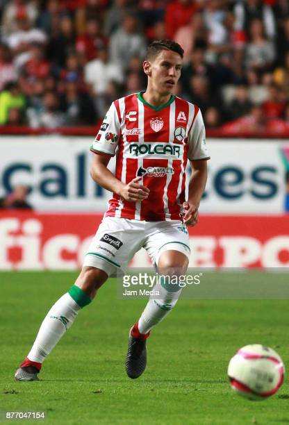 Igor Lichnovsky of Necaxa drives the ballduring the 17nd round match between Necaxa and Morelia as part of the Torneo Apertura 2017 Liga MX at...