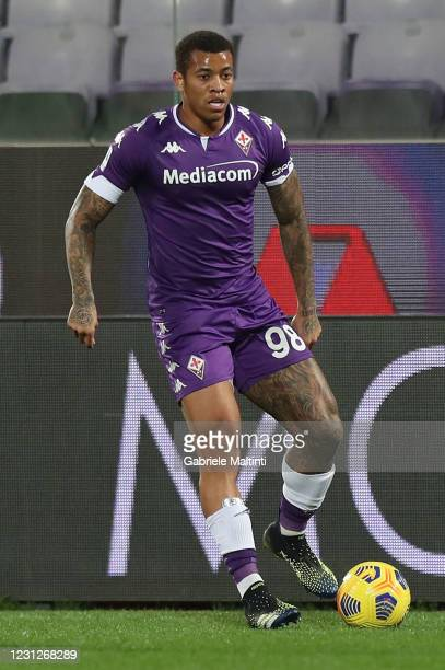 Igor of ACF Fiorentina in action during the Serie A match between ACF Fiorentina and Spezia Calcio at Stadio Artemio Franchi on February 19, 2021 in...