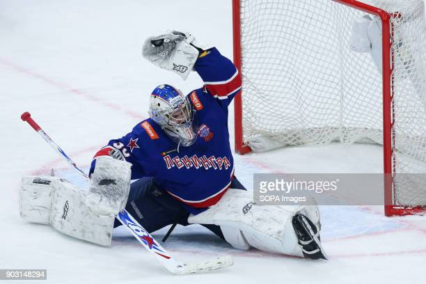 Igor Shestyorkin of HC SKA Saint Petersburg in action during the 2017/18 Kontinental Hockey League Regular Season match between HC Kunlun Red Star...