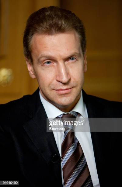 Igor Shuvalov Russia's first deputy prime minister speaks during an interview in his office in Moscow Russia on Wednesday March 18 2009 Russia's...