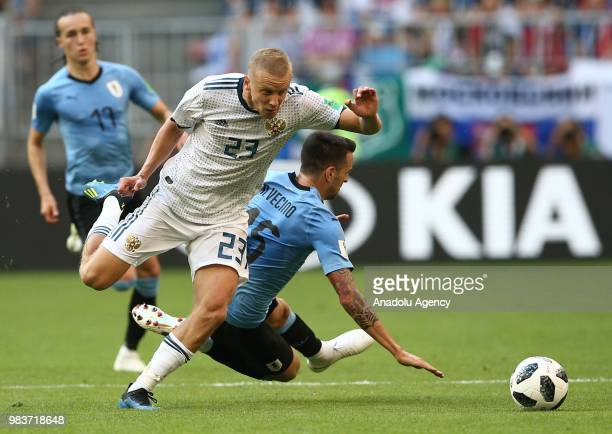 Igor Smolnikov of Russia during the 2018 FIFA World Cup Russia Group A match between Uruguay and Russia at the Samara Arena in Samara Russia on June...