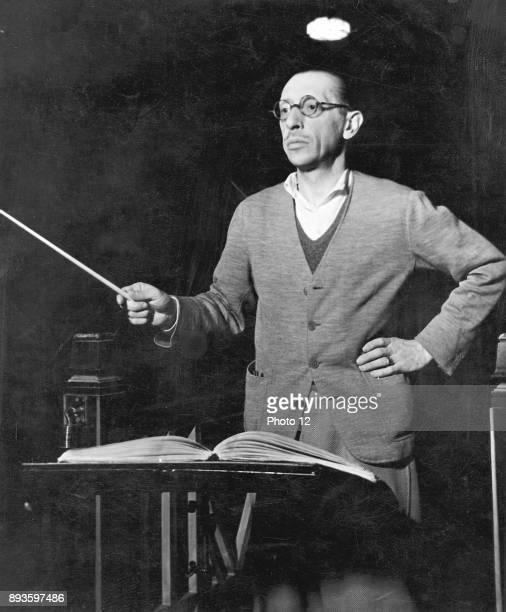 Igor Stravinsky Russianborn american composer conducting Photo12/UIG via Getty Images