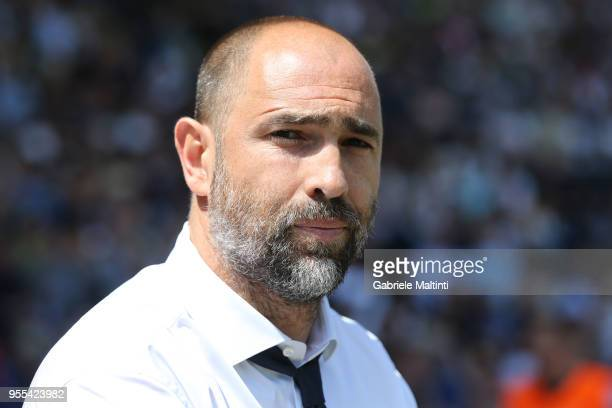Igor Tudor of Udinese Calcio looks on during the serie A match between Udinese Calcio and FC Internazionale at Stadio Friuli on May 6 2018 in Udine...