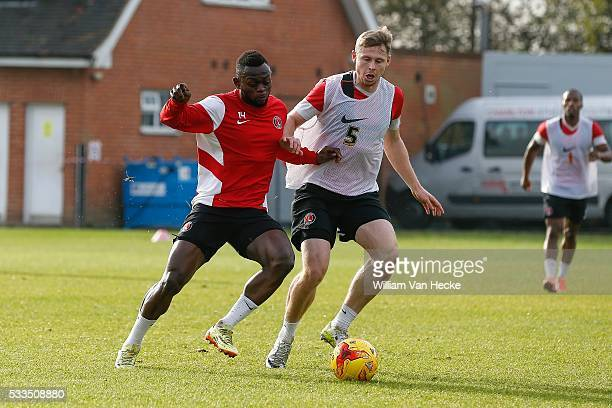 Igor Vetokele of Charlton Athletic FC pictured during a training day in Londen United Kingdom