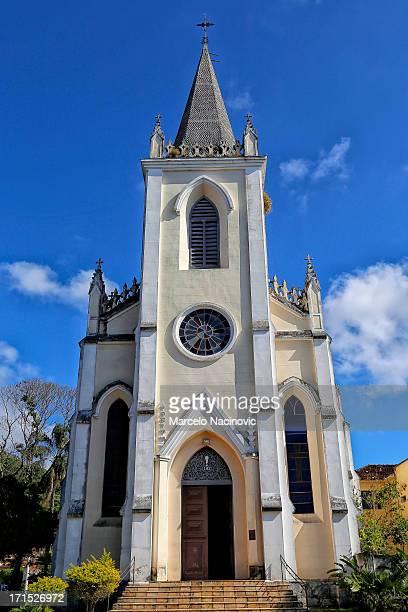 igreja de santa isabel da hungria (1868) caxambu - hungria stock photos and pictures