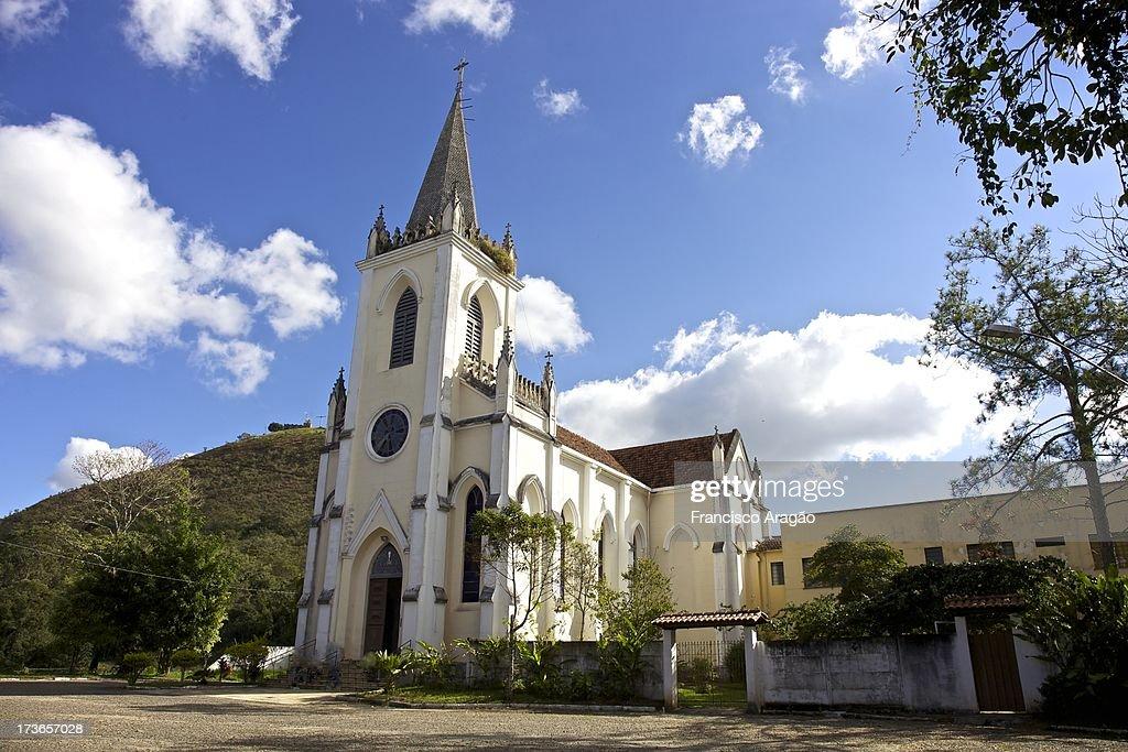 Igreja de Santa Isabel de Hungria - Caxambu, Minas : Foto de stock