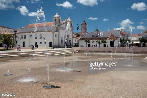 igreja de santa maria church - lagos portugal stock pictures, royalty-free photos & images
