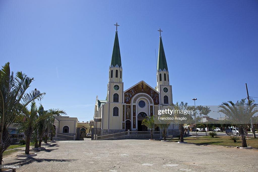 Igreja Nossa Senhora da Penha - Jaraguá, Goiás : Foto de stock