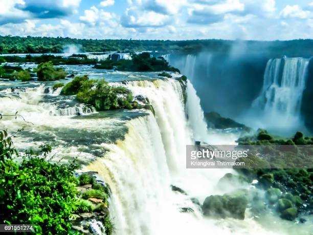 Iguana falls, waterfalls between Argentina and Brazil.