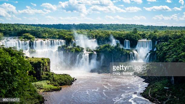 iguassu waterfall brazil argentina - brazil vs argentina stock photos and pictures