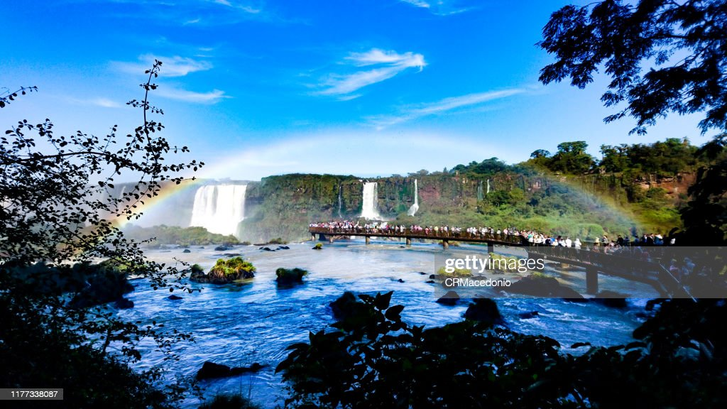 Iguazú Falls or Iguaçu Falls. : Stock Photo