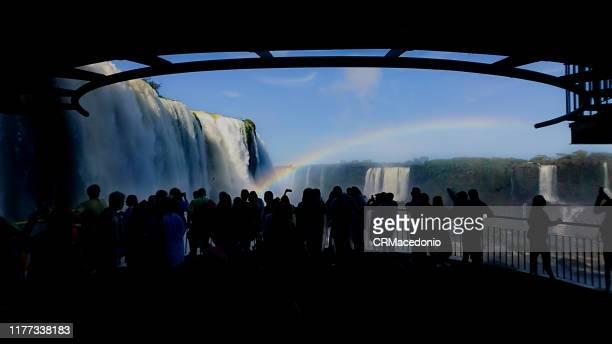 iguazú falls or iguaçu falls. - crmacedonio stock pictures, royalty-free photos & images
