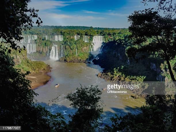 iguazú falls or iguaçu falls. - crmacedonio stock photos and pictures