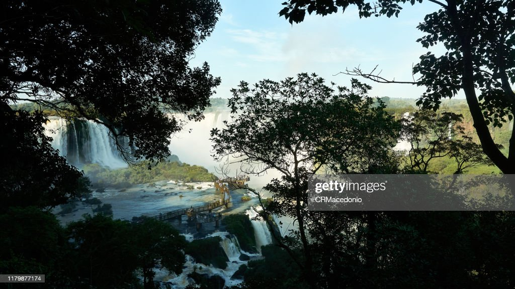Iguazú Falls or Iguaçu Falls. : Stock Photo