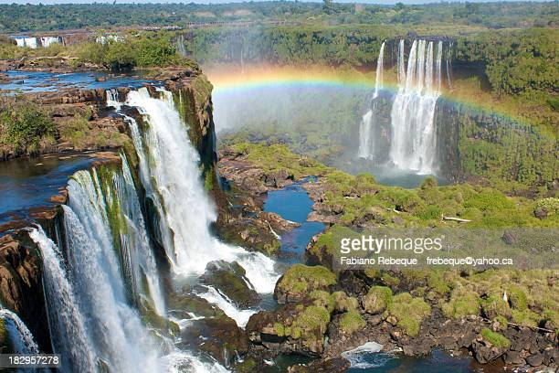iguazú falls - brazil vs argentina stock photos and pictures