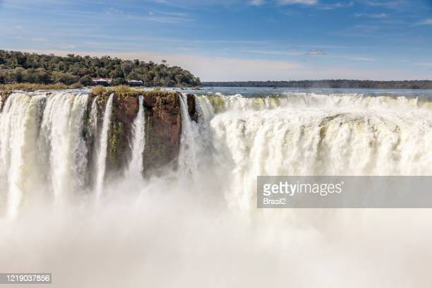 iguazu falls and the devil's throat - parana state stock pictures, royalty-free photos & images