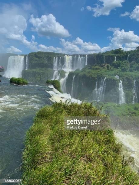 "iguazu falls (cataratas do iguaçu, brazil) garganta do diabo (devil's throat) - ""markus daniel"" imagens e fotografias de stock"